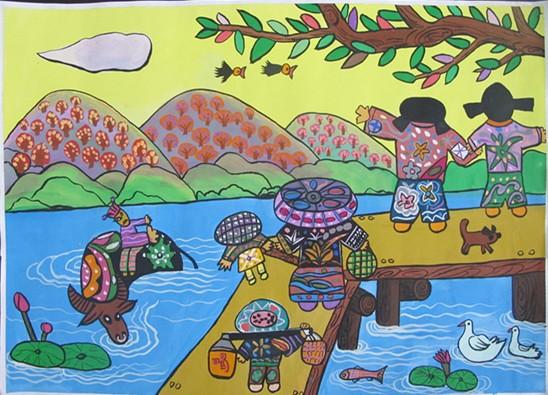 爱祖国爱家乡绘画儿童怎么画图片