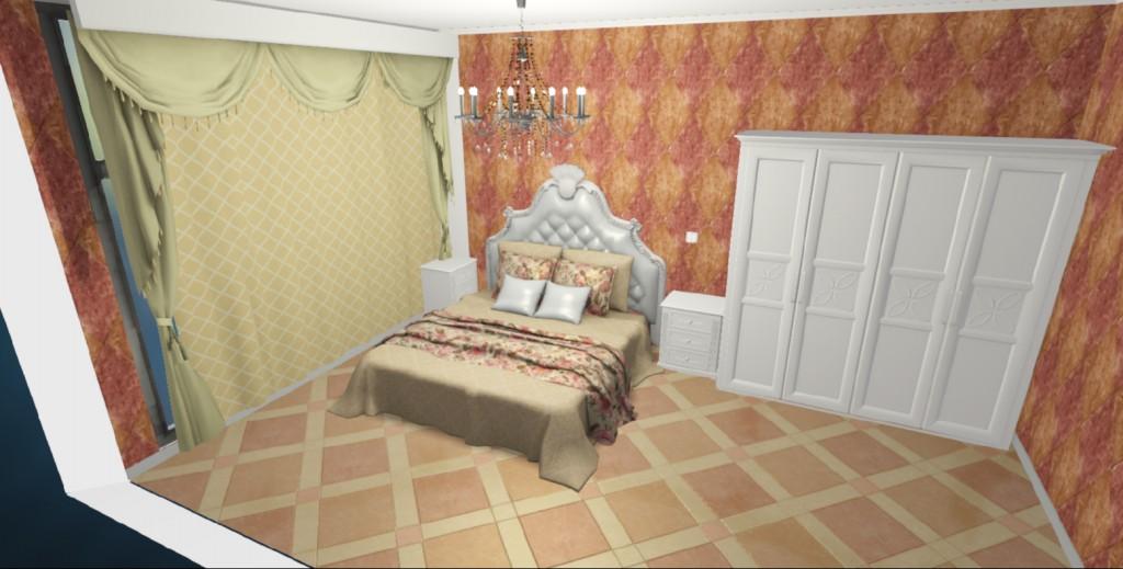 家具欧式白色,地砖橘红色,墙纸该选什么颜色呢?
