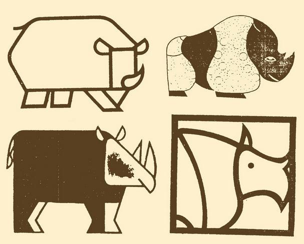 怎么画犀牛