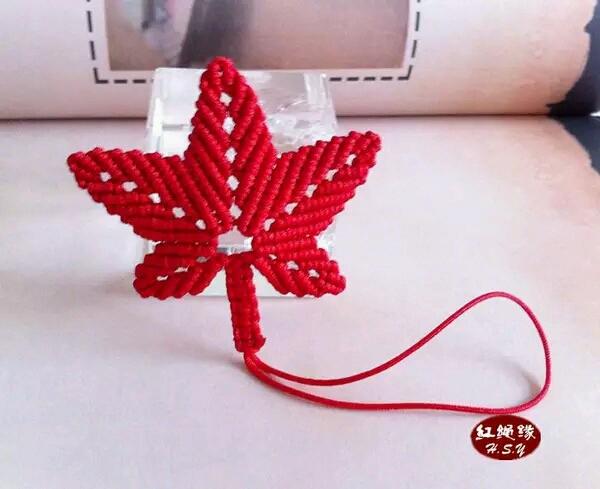 叶子红绳手工编织方法图解