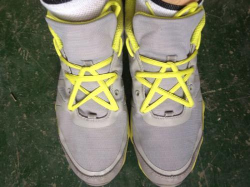 5孔鞋的花式系鞋带法_运动鞋系鞋带五孔花式图片