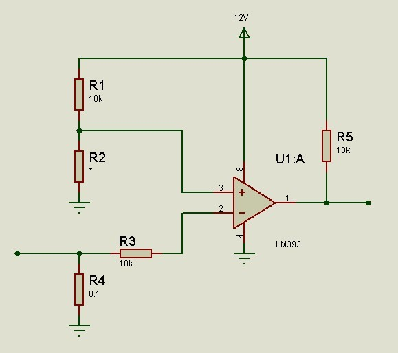 电路取得电压(当限流电流很小时需使用电压放大),然后再使用lm393进行