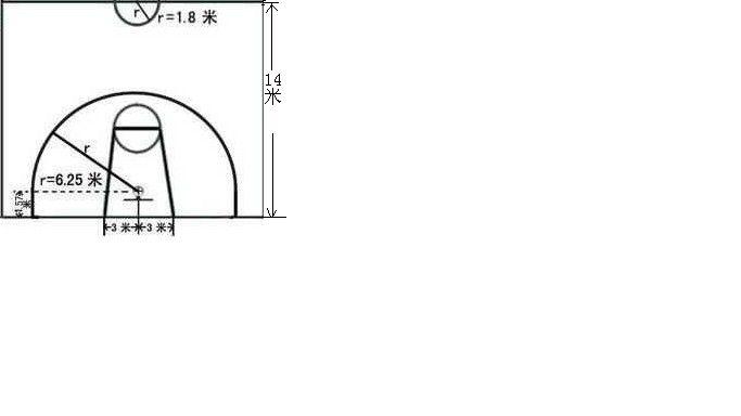 半场篮球场设计平面图