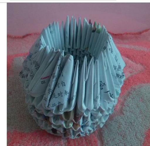 怎样折纸拼菠萝筐