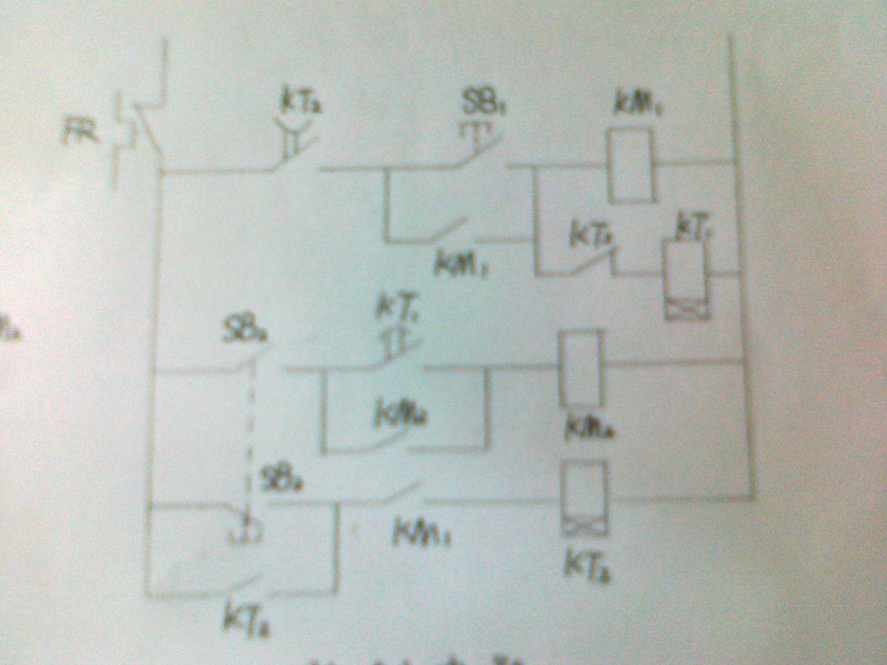 求此电动机控制电路具体原理说明,此图为延时电路,a电机启动10s后b
