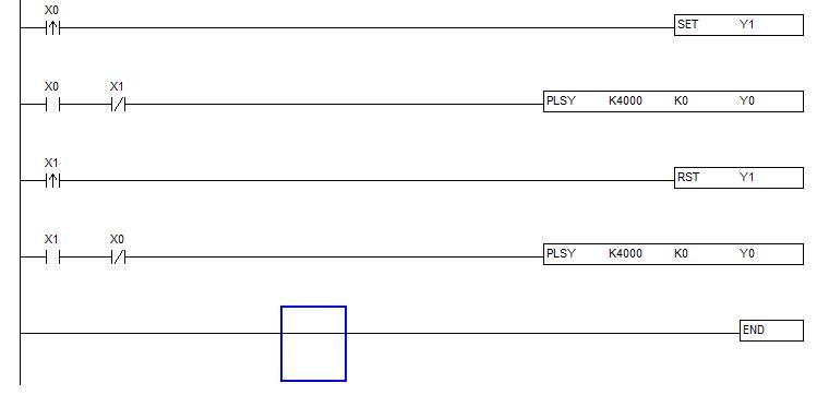 台达plc dvp-14es00t2控制步进电机正反转梯形图