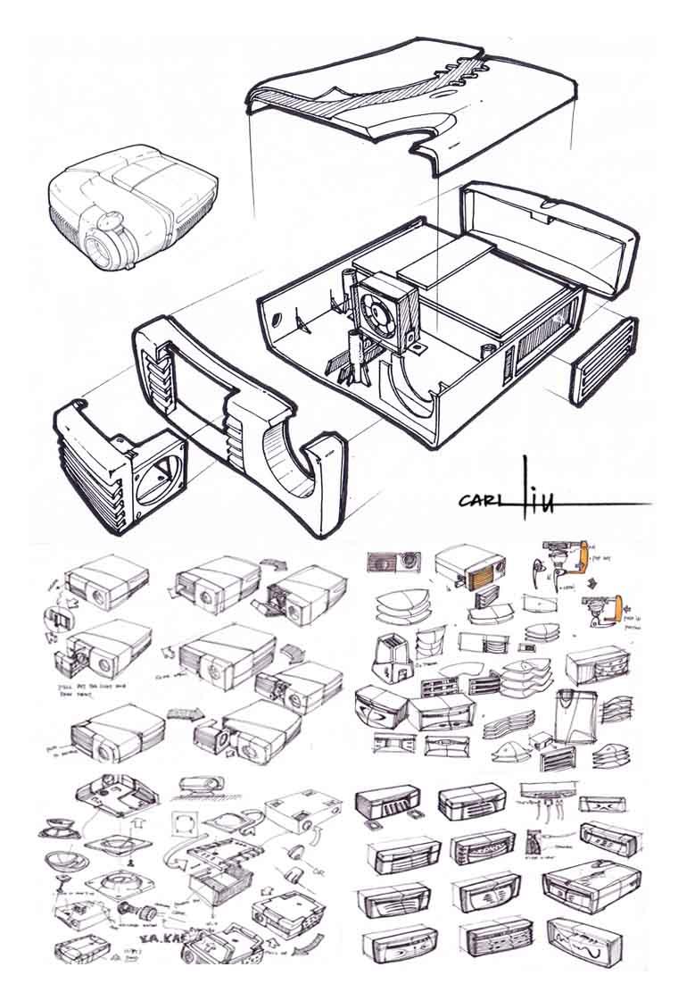 急需产品设计手绘爆炸图!哪里有