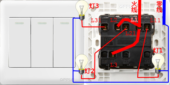 公牛开关L10,L11,L30,L31,L40,L41,为接线端,怎么连接一根火线三根零线呢?(图1)  公牛开关L10,L11,L30,L31,L40,L41,为接线端,怎么连接一根火线三根零线呢?(图2)  公牛开关L10,L11,L30,L31,L40,L41,为接线端,怎么连接一根火线三根零线呢?(图3)  公牛开关L10,L11,L30,L31,L40,L41,为接线端,怎么连接一根火线三根零线呢?(图4)  公牛开关L10,L11,L30,L31,L40,L41,为接线端,怎么连接一根火线三