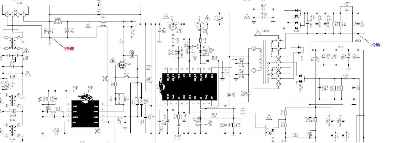在电路上看到有将pcb板上的电源地与机壳地用电容连接