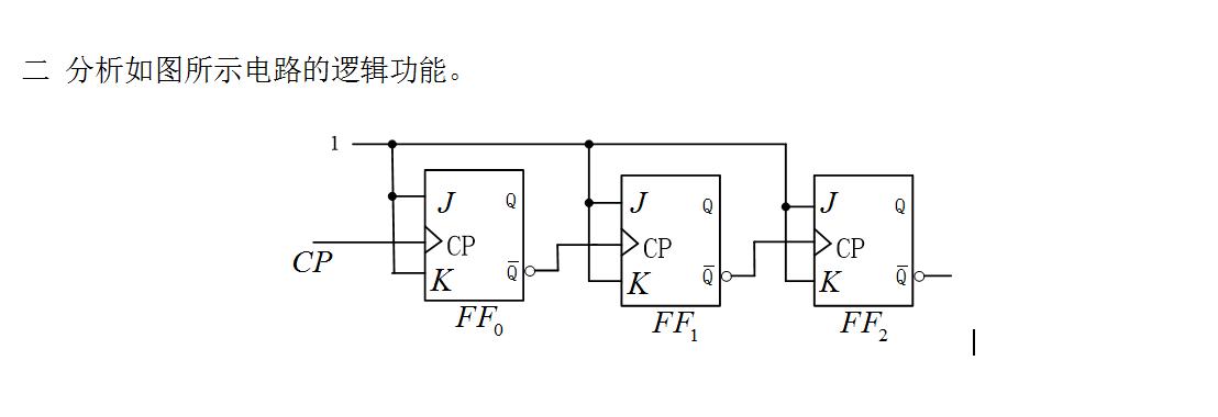数字电子技术问题 时序电路 分析如图所示电路的逻辑功能
