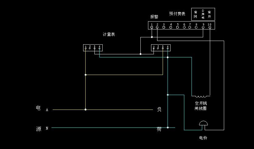 单相电表 单相预付费表的接线图,这样接对吗?若不对,应该怎么接?