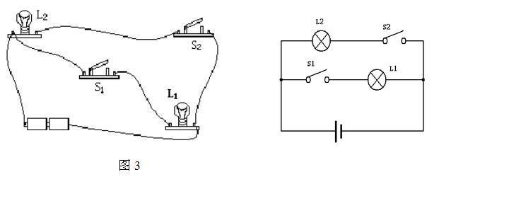 根据题中所给的实物图,画出对应的电路图