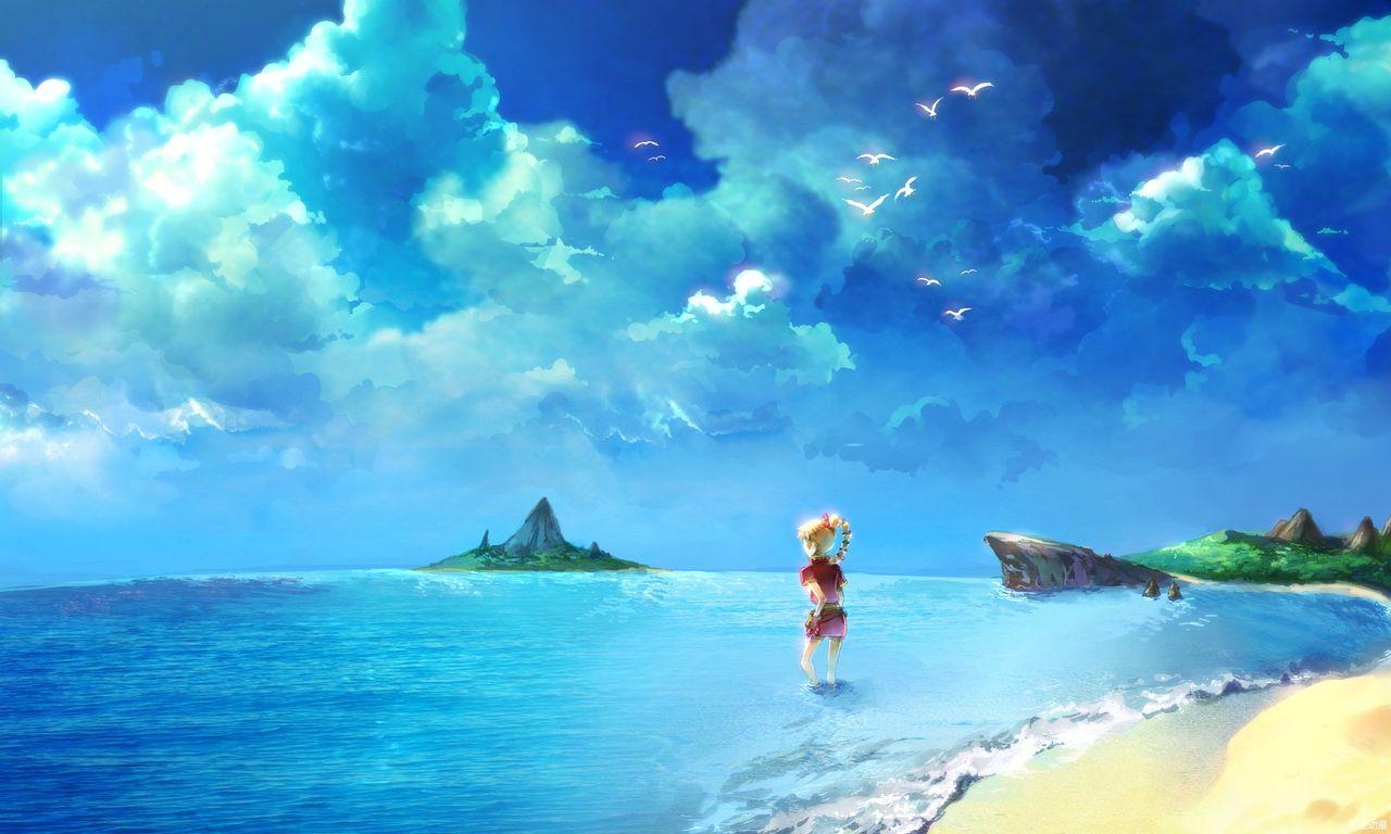 我看见了大海_大海的图片,最好是动漫的
