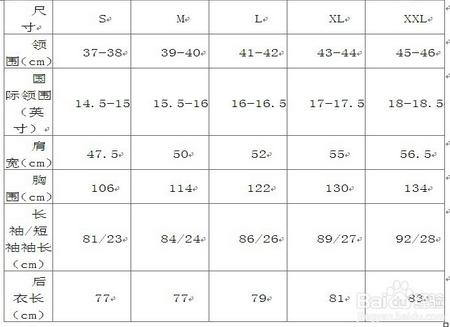 男式衬衫尺码�y�i�(j_男士正装衬衫尺码如何选?