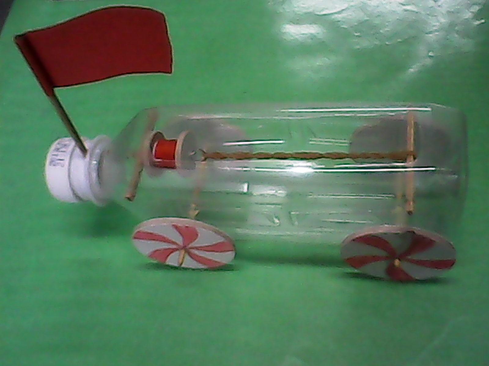 用瓶子做小汽车图解