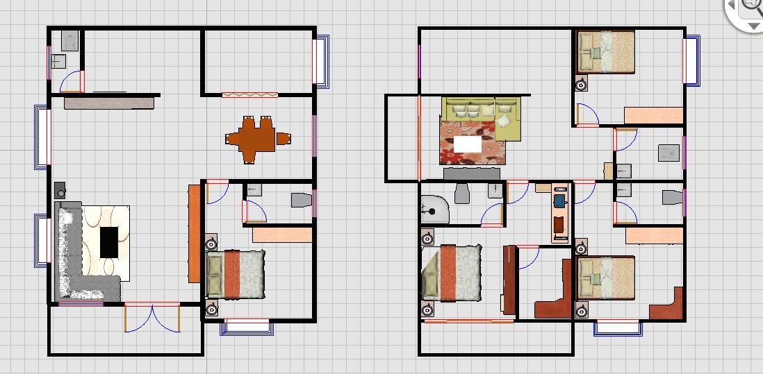 农村9.5米宽11米深 两层自建房 拜求设计图