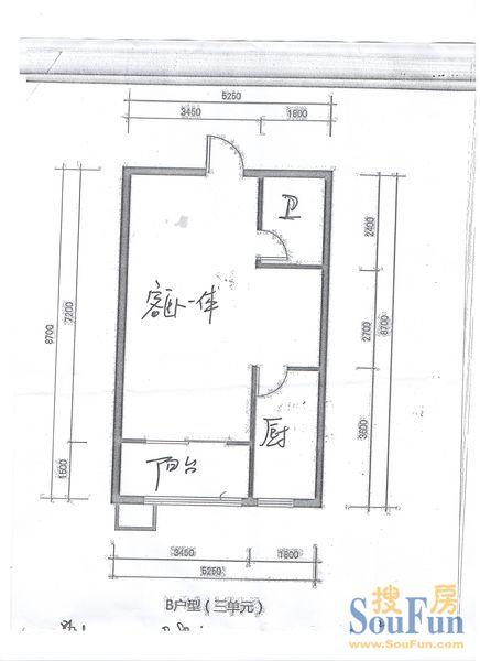 40平方2室一厅设计图