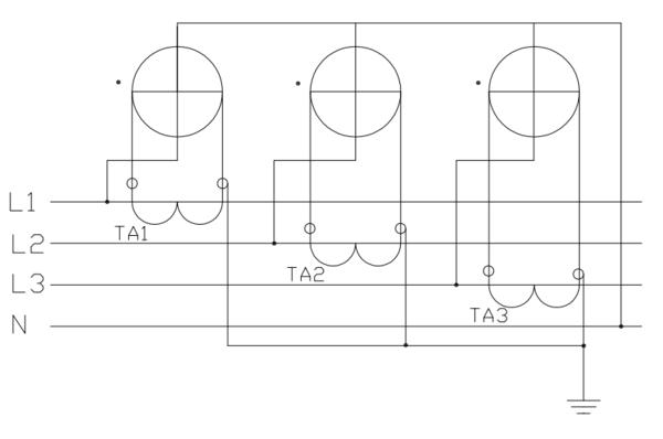 三相电度表配互感器怎样接线