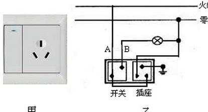 家庭电路的插座实物图怎么安装?