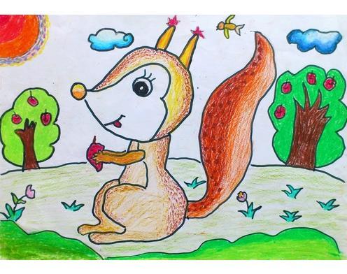 怎样画松鼠