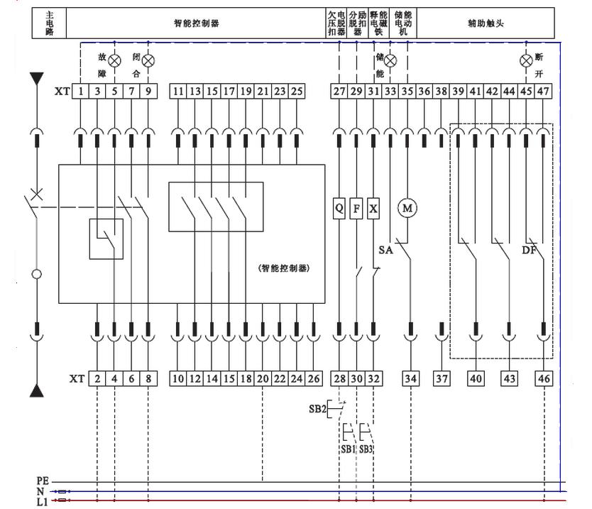 我想问yhdw1一2000断路器二次回路怎么接线