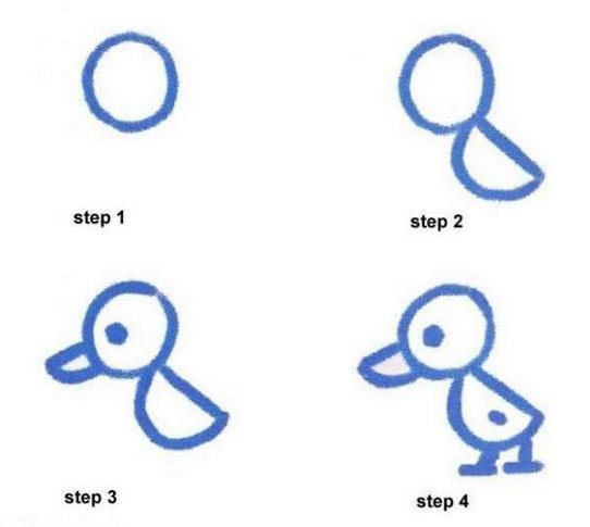怎样画鸭简笔画
