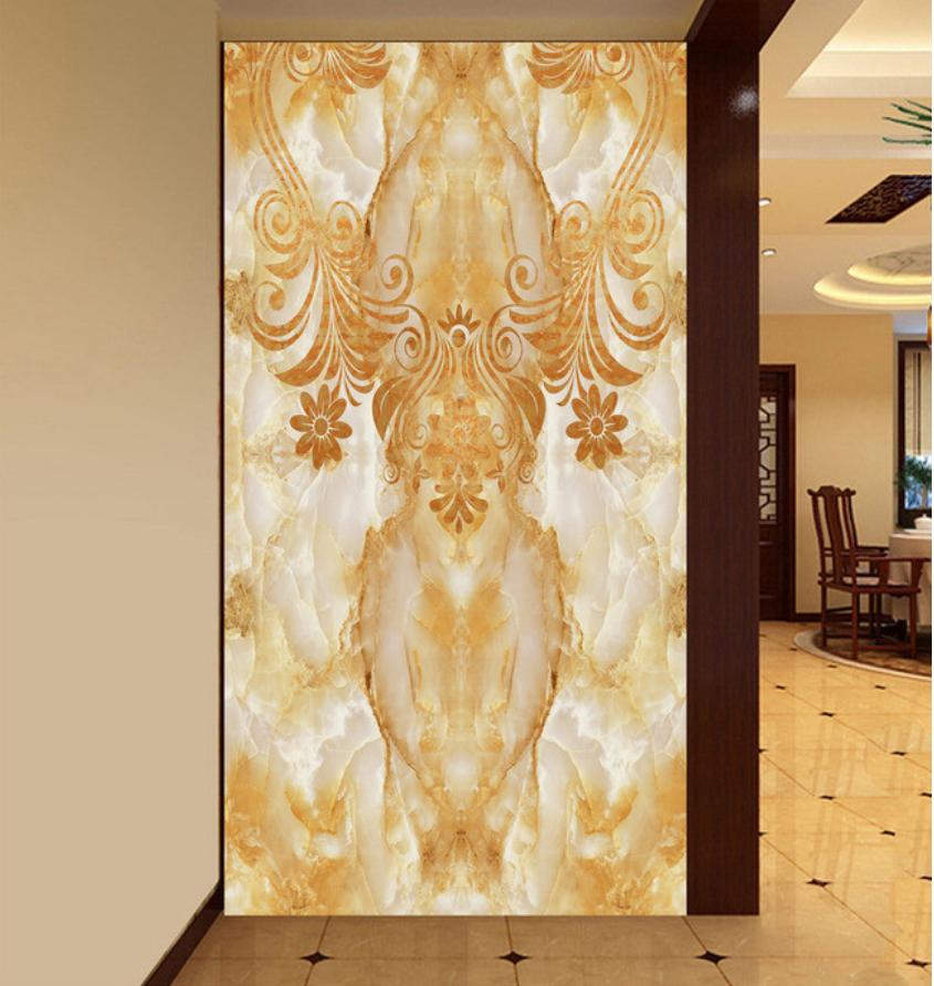 2015最新简欧式走廊玄关背景墙效果图