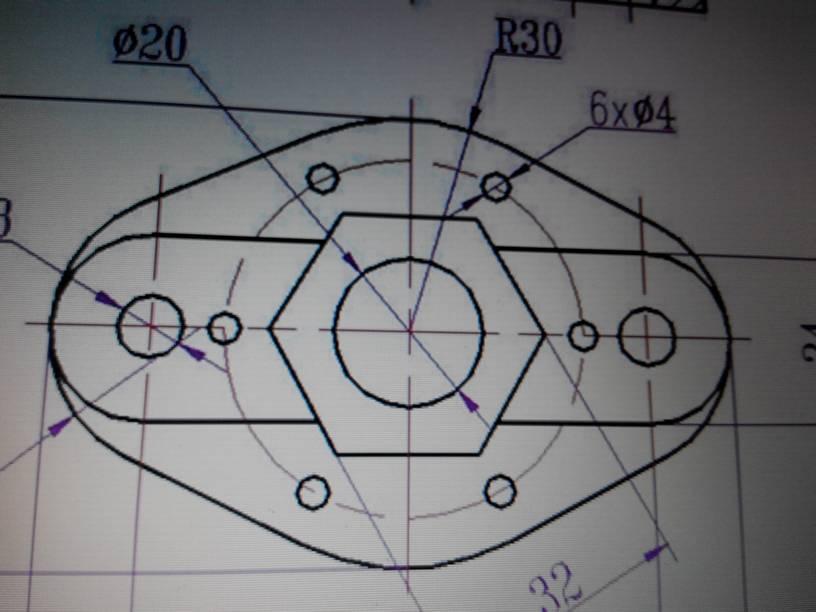求大神教中间的六边形用cad2012如何画