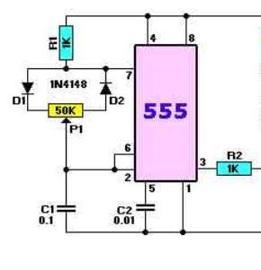 555占空比可调的振荡电路如何设计啊- -?