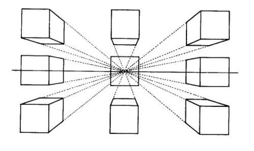 我是学素描的新生,老师让我们画立体正方形画九种请问