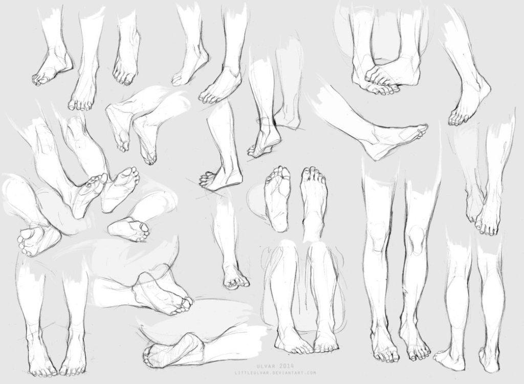 动漫人物脚和鞋怎样画
