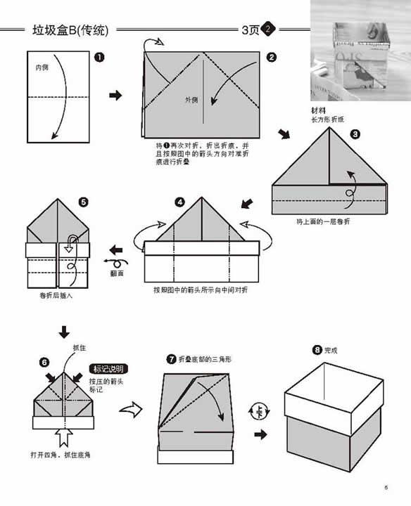 怎样折纸盒
