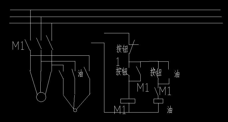 求电路图 某机床主轴由一台y型电动机m1拖动,润滑油泵