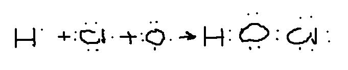 用电子式表示hclo分子的形成过程图片