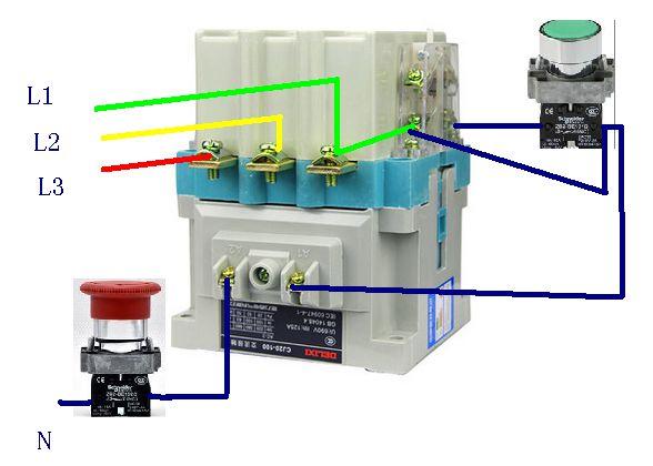 cj20-100交流接触器组接线图?