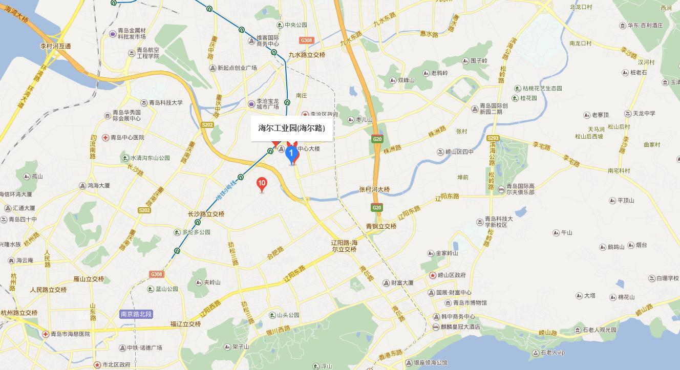 山东青岛海尔工业园的位置在哪