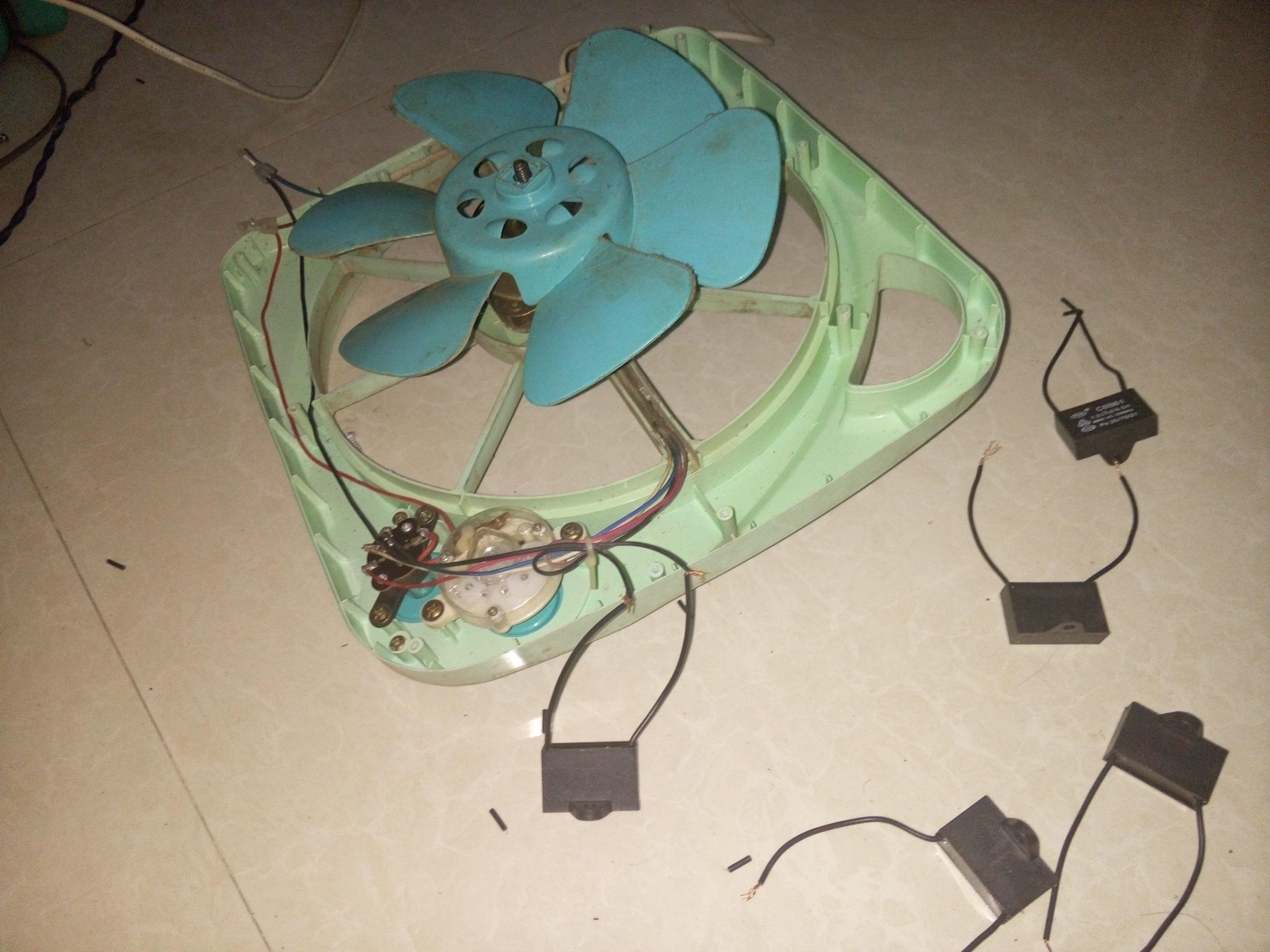 这个电风扇电容我也换了,还是一点反应也没有,电机也不会有卡住的感觉