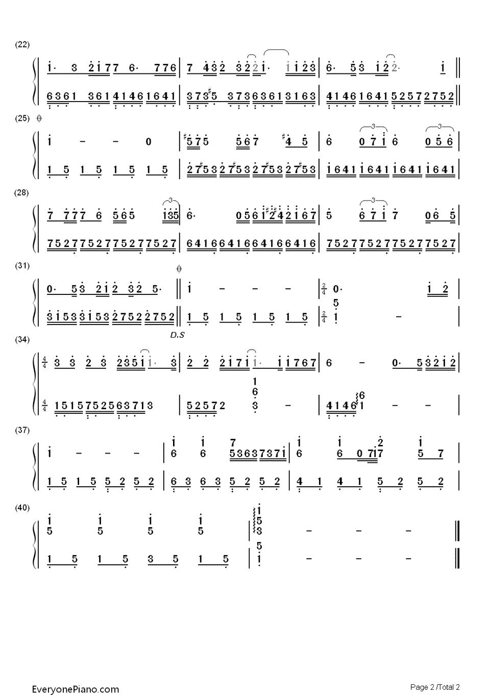 求 十年 的左右手钢琴简谱