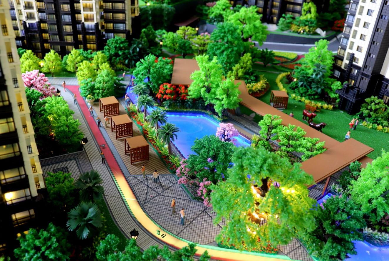 沙盘模型应该如何设计景观绿化图片