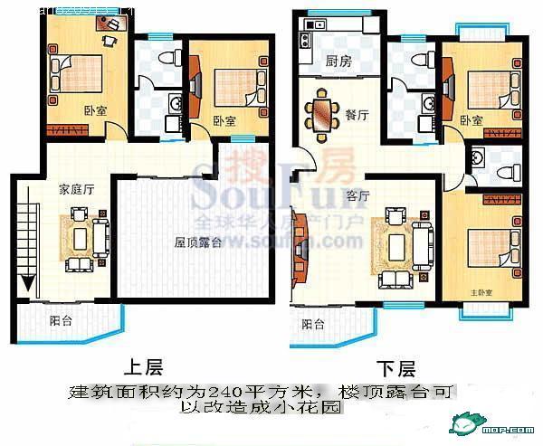 二层小楼平面图