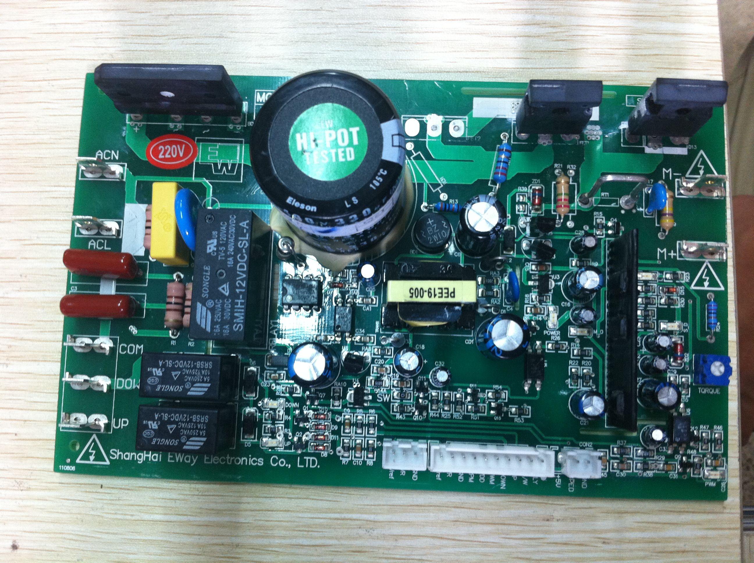 跑步机电路板大电容充电问题