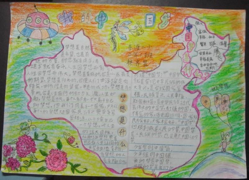 我的中国梦手抄报图片