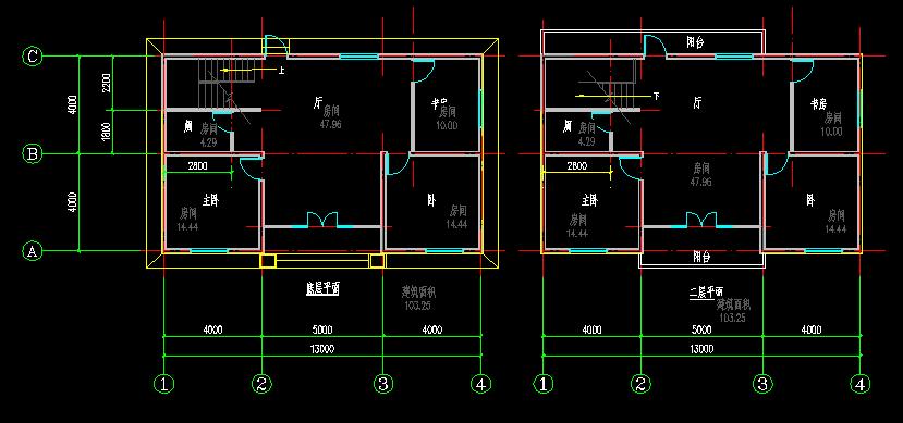 8米x13米套房设计图
