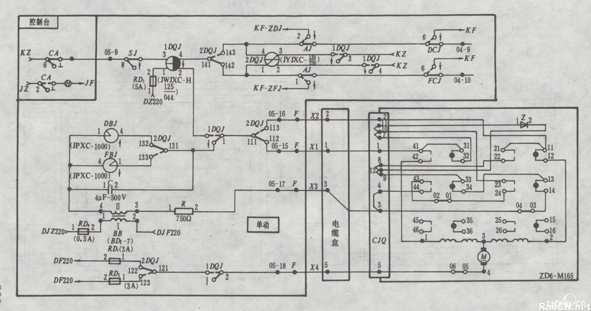 zd6型电动转辙机电路图