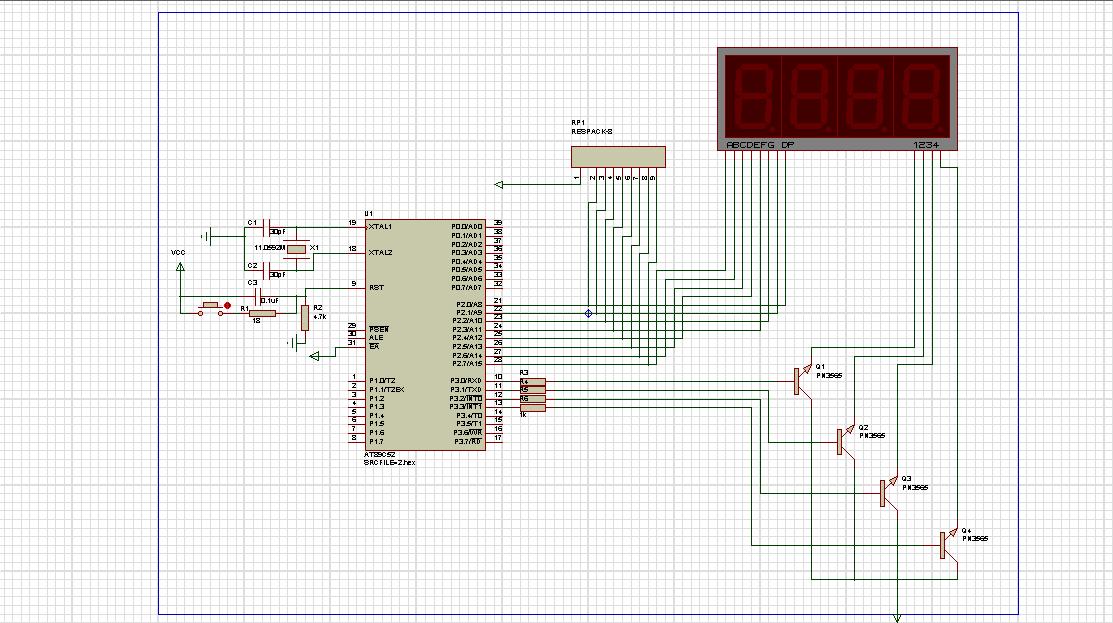 求助……这个电路图是正确的吗?怎样编程才能让数码管显示秒表?