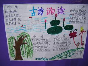 小学生四年级手抄报关于古诗郎诵图片