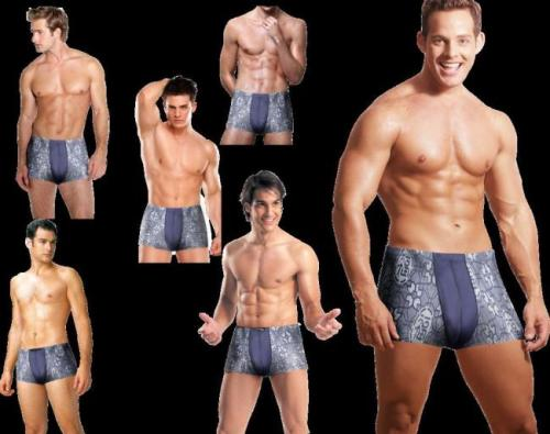 男内衣模特穿三角内裤,凸显得很明显,我是男生在宿舍?