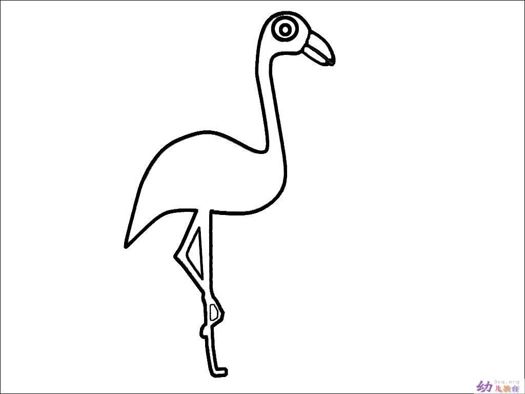 关于鹤的简笔画