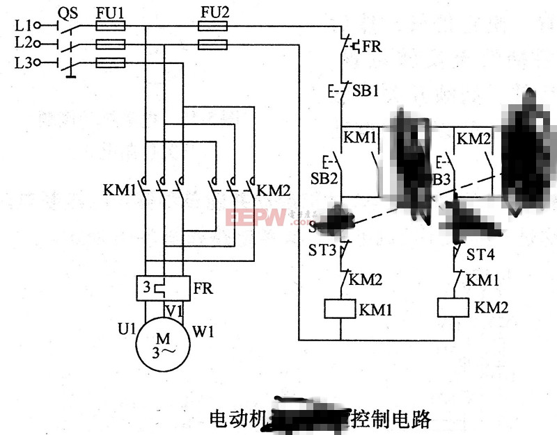 升降机的控制电路图