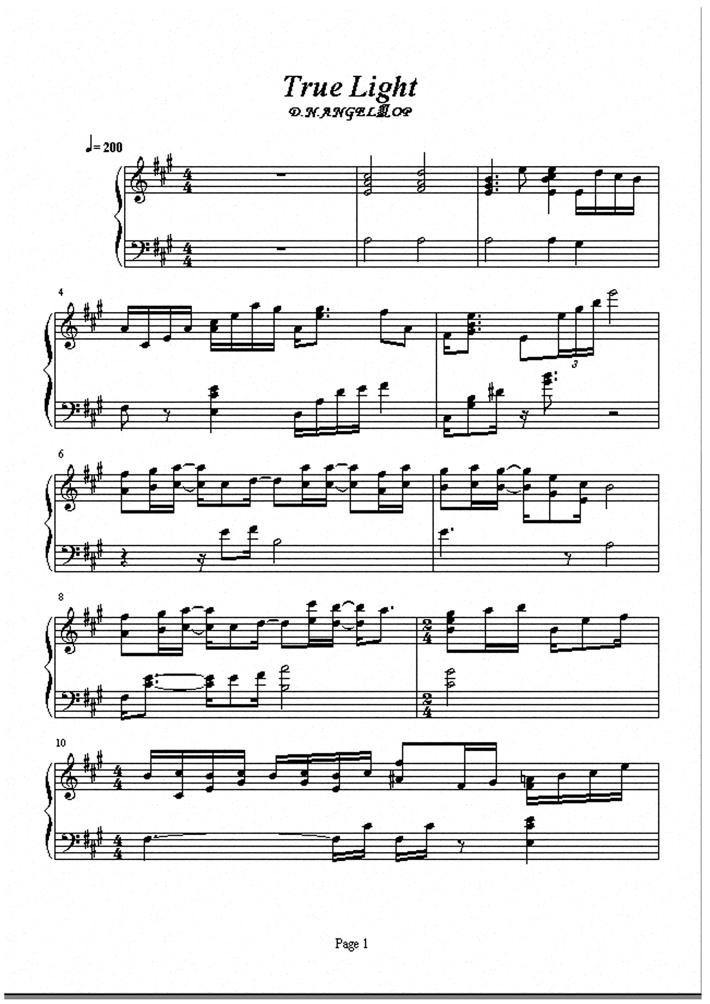 蔷薇少女 的钢琴曲谱.